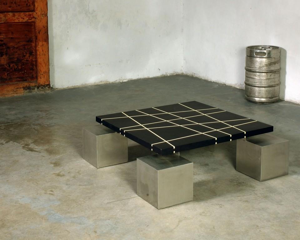 Tavoli mumble mumble - Tavolo legno e acciaio ...